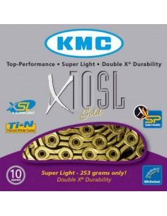Cadena Kmc X10 SL Gold 10v